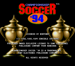 Play Championship Soccer '94 Online